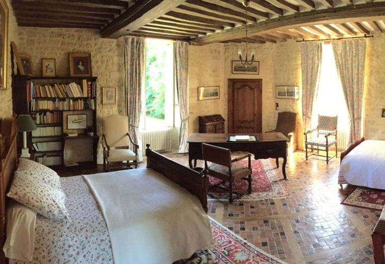 Château d'Asnieres en Bessin, Asnieres-en-Bessin, ห้องแฟมิลี่, เตียงใหญ่ 2 เตียง (Tour), ห้องพัก