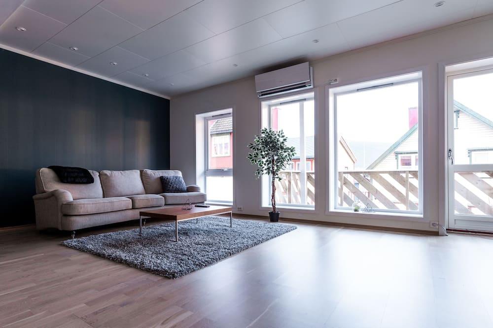 Deluxe-Apartment, 3Schlafzimmer, 2 Bäder - Wohnzimmer