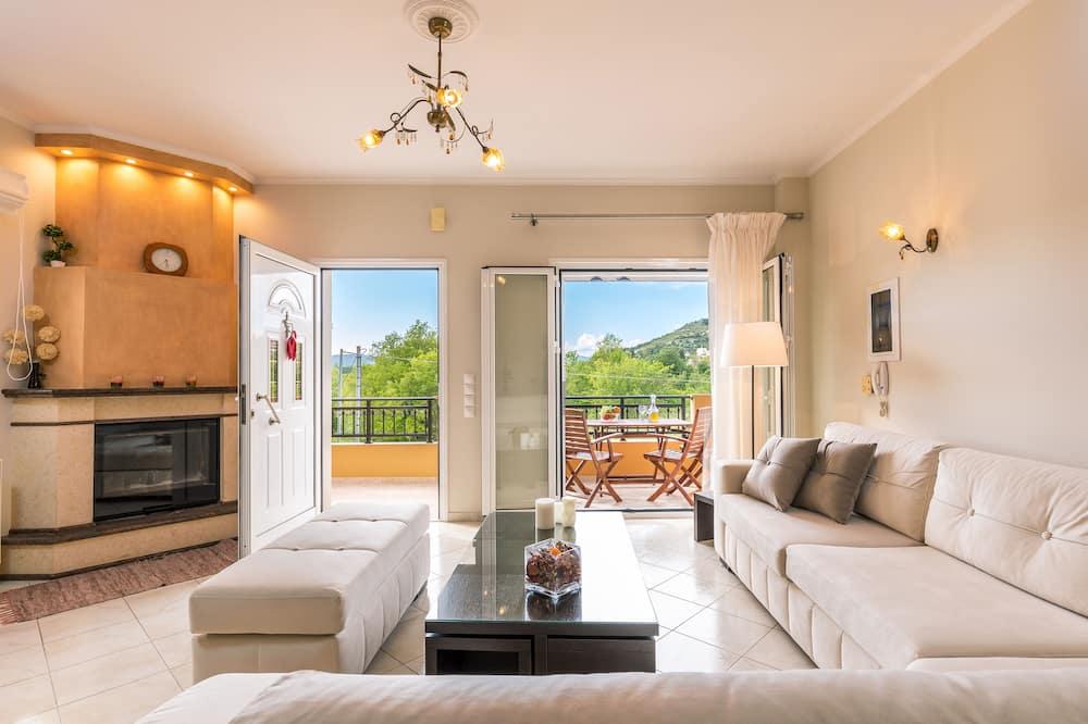 Appartamento, 2 camere da letto, vista montagna - Soggiorno