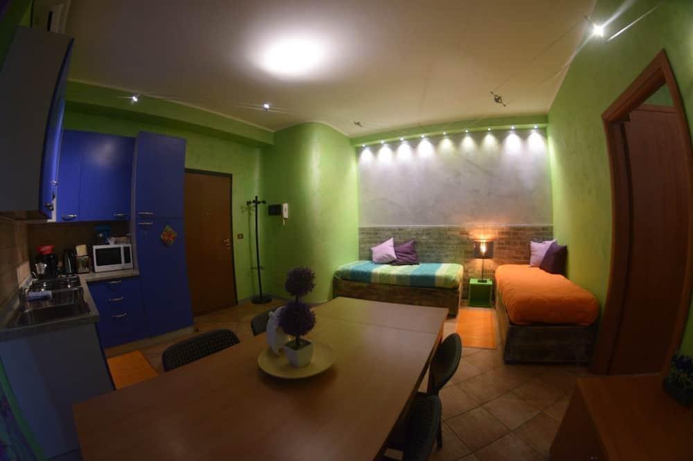 Dzīvokļnumurs, viena guļamistaba, atsevišķa ēka (Blue & Green - Via Marconi, 23) - Numura ēdamzona