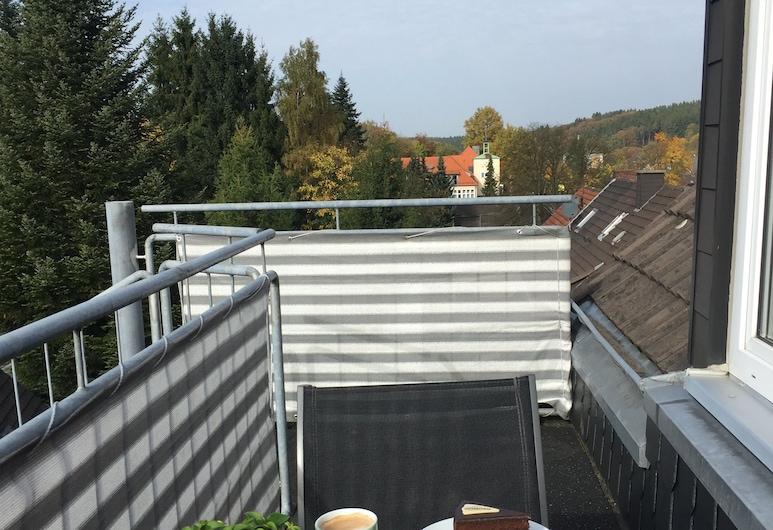 Maisonette - Am Bahntrassen-Radweg, Marienheide, Apart Daire, 3 Yatak Odası, Balkon, Balkon