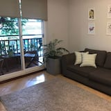 City-lejlighed - 2 soveværelser - balkon - byudsigt (BROMELIA) - Opholdsområde