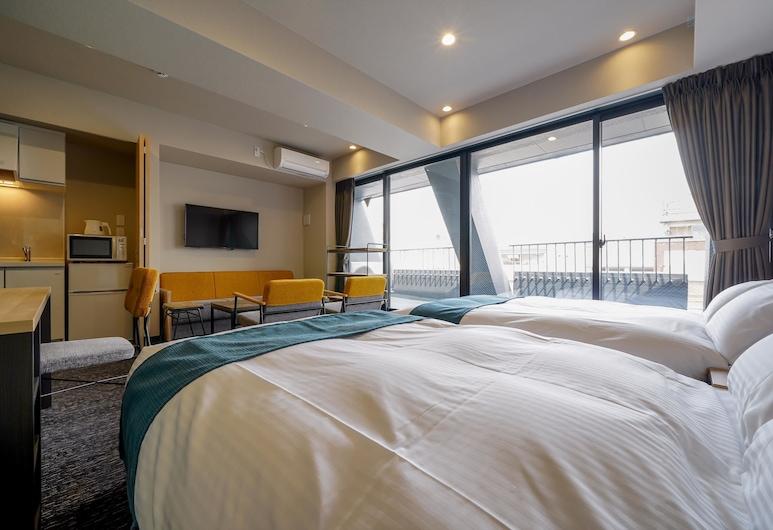 RESI STAY cotorune KYOTO, Kyoto, חדר סופריור לשלושה, מטבחון (Pls see all policies and info), אזור מגורים