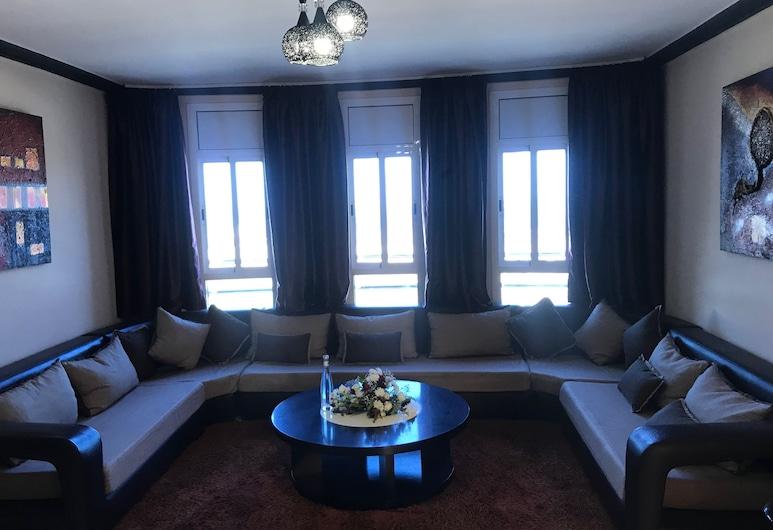 Aparthotel & Hotel Doha, Nador, Ģimenes dzīvokļnumurs, skats uz kanālu, Dzīvojamā zona