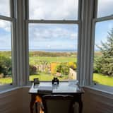 Beachfront Sandstone Villa (c1870) with Stunning Views to Arran and Royal Troon