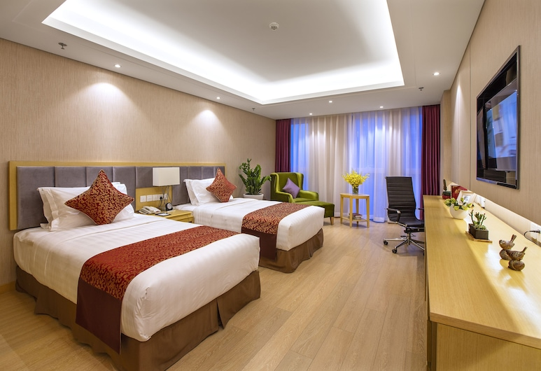 Ariva Tianjin Zhongbei Serviced Apartment, Tianjin, Deluxe Twin Room, Guest Room