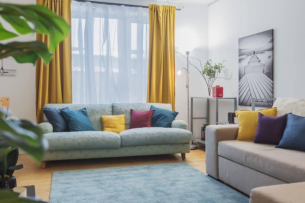 Klassiek appartement, Meerdere bedden, niet-roken, Uitzicht op de stad - Woonkamer