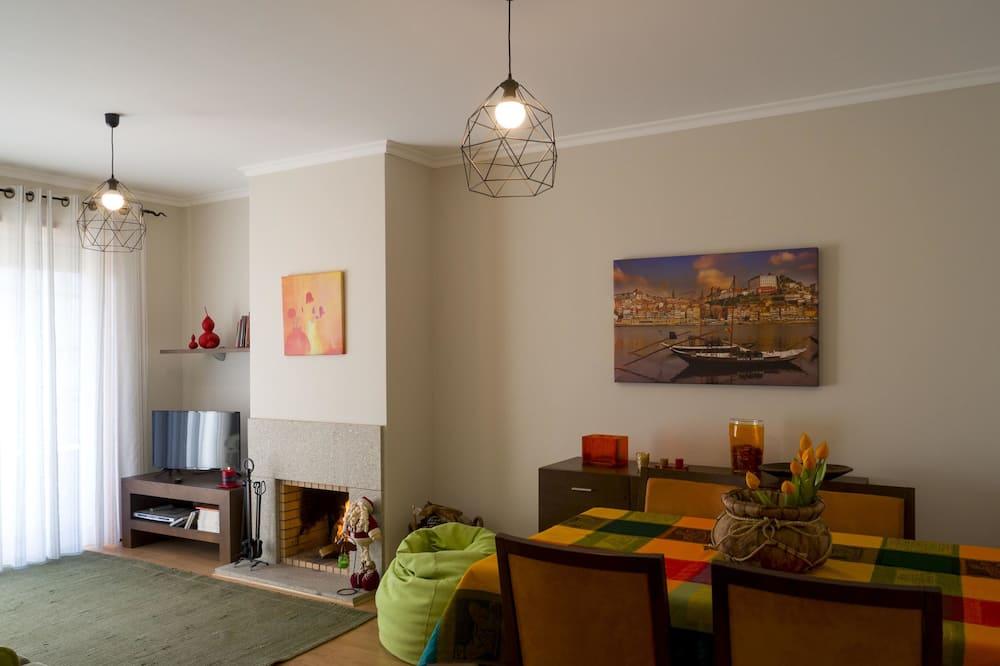 Apartment, 2Schlafzimmer, Nichtraucher, Meerblick - Wohnbereich