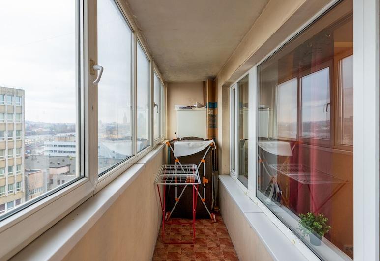 Apartment on Rizhskaya, Moskva, Lägenhet Comfort - 1 kingsize-säng med bäddsoffa - icke-rökare, Balkong