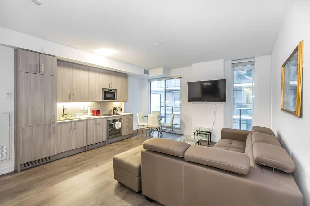 Deluxe Διαμέρισμα (Condo), 1 Queen Κρεβάτι, Μη Καπνιστών, Θέα στην Πόλη - Περιοχή καθιστικού