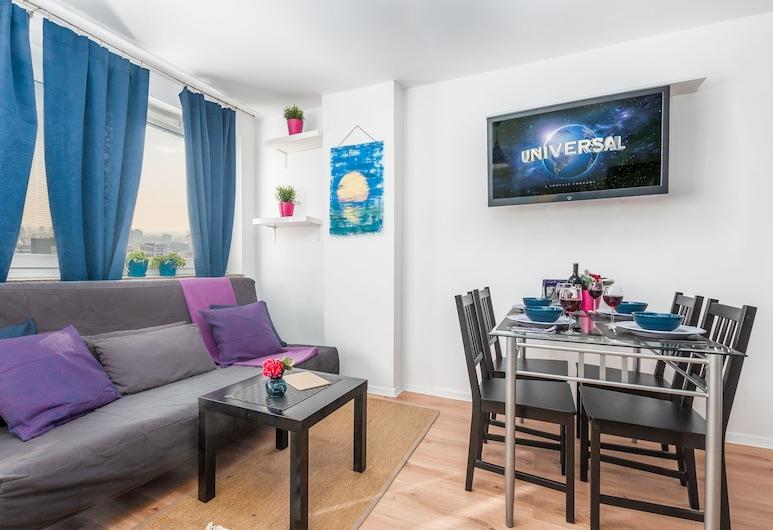 Little Home - Violet, Βαρσοβία, Διαμέρισμα, Μπαλκόνι, Θέα στην Πόλη, Περιοχή καθιστικού