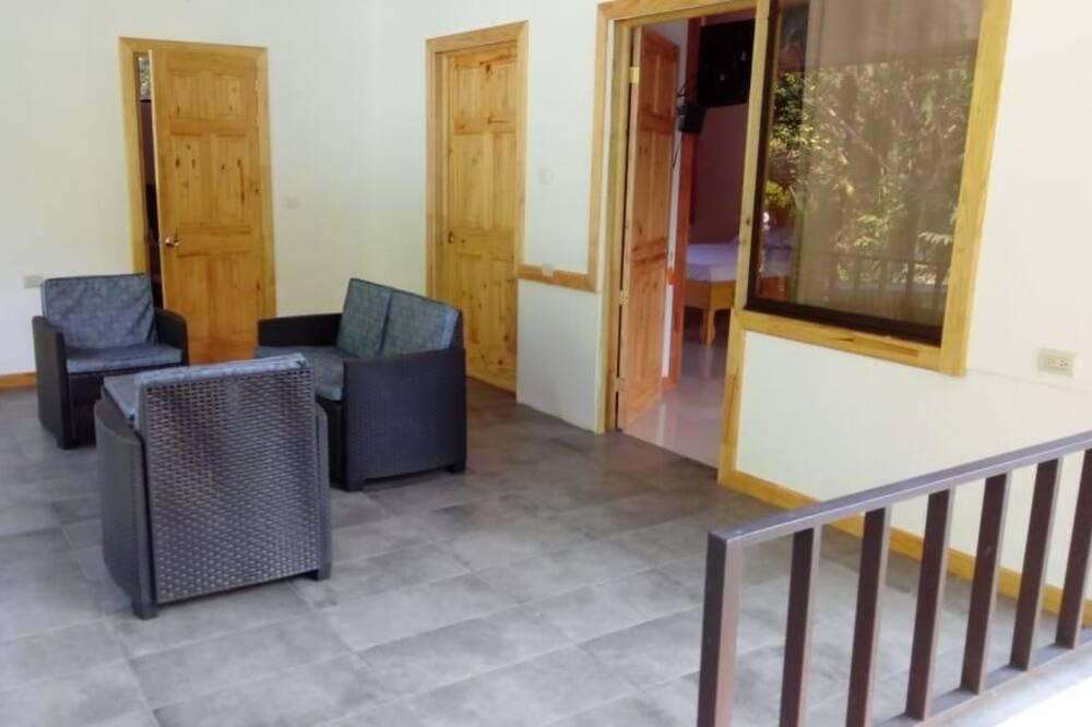 Comfort Quadruple Room, Terrace - Living Room