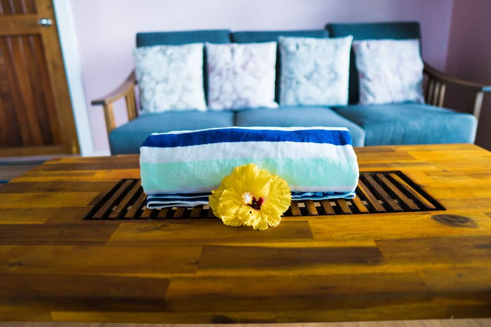 Будинок, 2 ліжка «квін-сайз», для некурців, з видом на океан - Вітальня