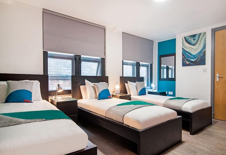OYO Grand Central, Liverpool, Habitación triple estándar, Varias camas, Habitación