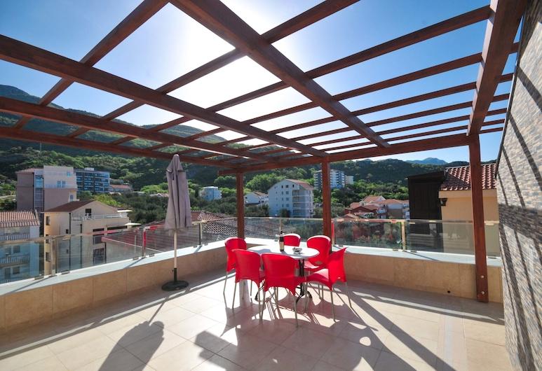 Adriatic Apartments, Becici, Leilighet, 3 soverom, utsikt mot sjø (A21), Balkong