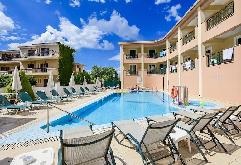 Timos Hotel, Zakynthos, Studio Deluxe - utsikt mot poolen, Balkong