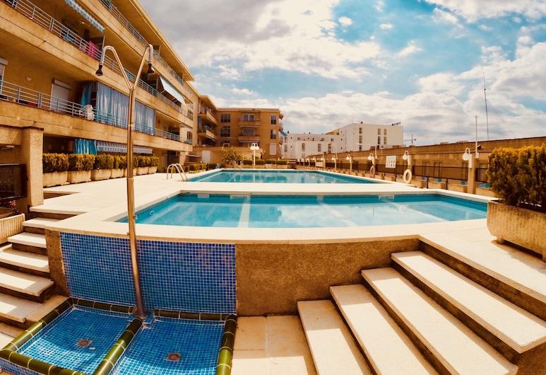 Espectacular Apartamento en Platja d'Aro, Kastiljo de Aras, Lauko baseinas