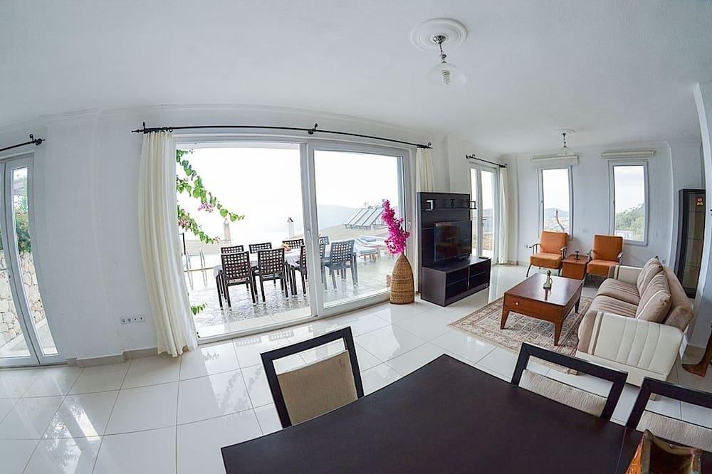 Biệt thự, 4 phòng ngủ, Hồ bơi riêng, Quang cảnh biển - Khu phòng khách
