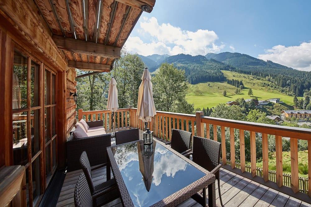 Chalet, 4 habitaciones, vista a la montaña (Chalets - Hütte 1) - Balcón