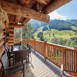 Chalet, 4 habitaciones, vista a la montaña (Chalets - Hütte 3) - Balcón