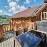 Chalet, 4 habitaciones, vista a la montaña (Chalets - Hütte 2) - Terraza o patio