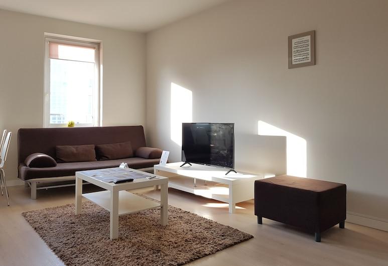Chopin Apartments Eco, Warschau, Apartment, 2Schlafzimmer, Wohnbereich
