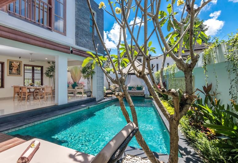 Kubu GWK Resort, Jimbaran, וילת פרימיום, 3 חדרי שינה, בריכה פרטית, חדר אורחים