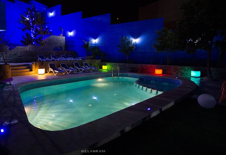 Hotel Ziryab, Chefchaouen, Deluxe-dobbeltværelse - 1 kingsize-seng - ikke-ryger - udsigt til pool, Udsigt fra værelset