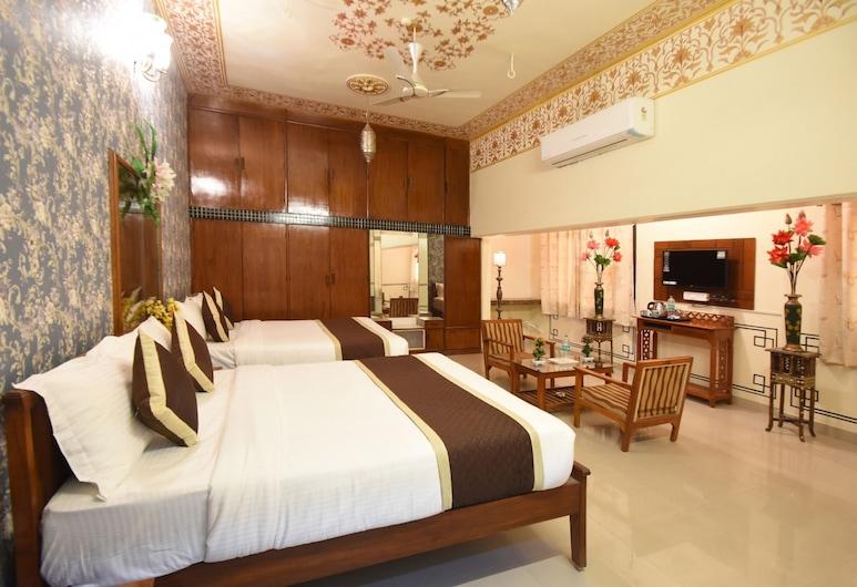 Virasat Mahal Heritage Hotel, Jaipur, Quarto família, 2 camas de casal, Quarto