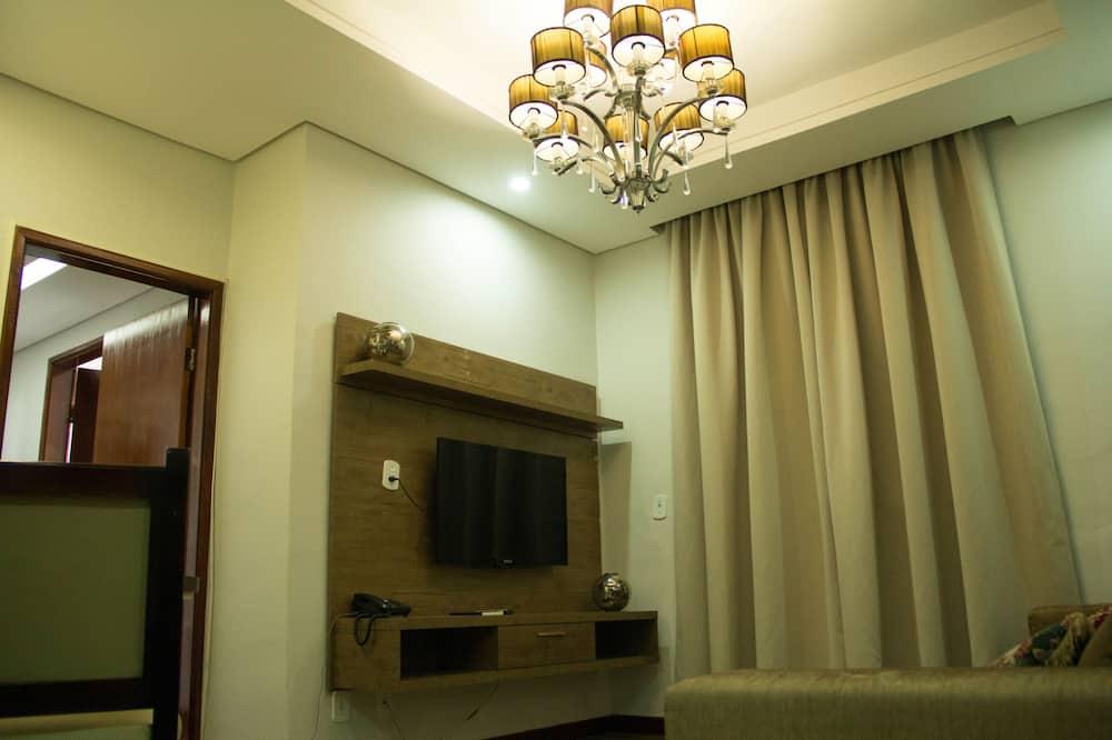 Numeris, 1 standartinė dvigulė lova, Nerūkantiesiems, sūkurinė vonia - Svetainės zona