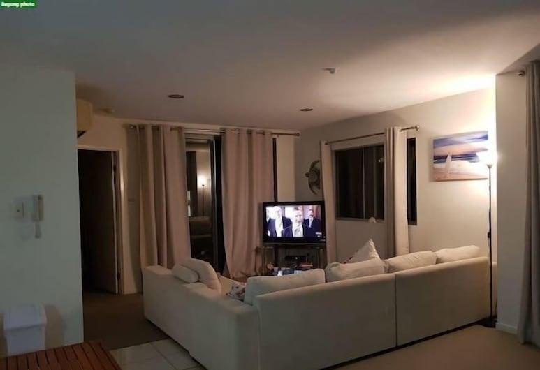 Perch Apartments at Anembo Street, Surfers Paradise, Apartament rodzinny, 2 łóżka podwójne, widok na basen, Pokój