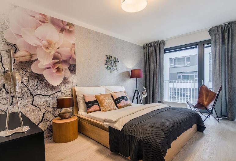 Michal&Friends Prague Luxury Apartments, Praga, Apartament typu Deluxe, Pokój