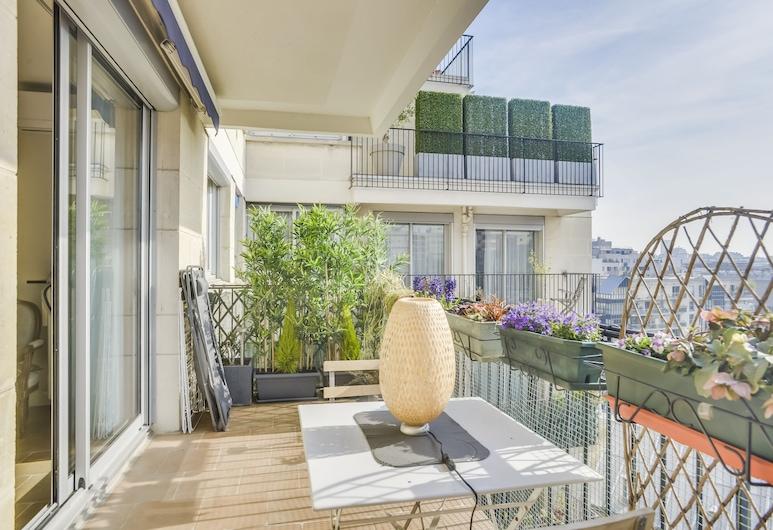 Appartement terrasse, Paryż, Apartament, Balkon