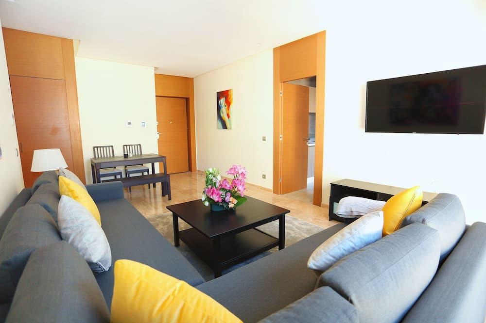 公寓, 2 间卧室, 无障碍, 无烟房 - 起居区