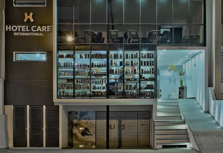 Hotel Care International, ซาน ฆวน เด ปัสโต, ด้านหน้าของโรงแรม - ช่วงเย็น/กลางคืน