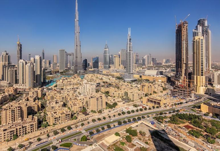 Nasma Luxury Stays - South Ridge, Dubajus, Liukso klasės apartamentai, 2 miegamieji, vaizdas į kanalą, Vaizdas į miestą