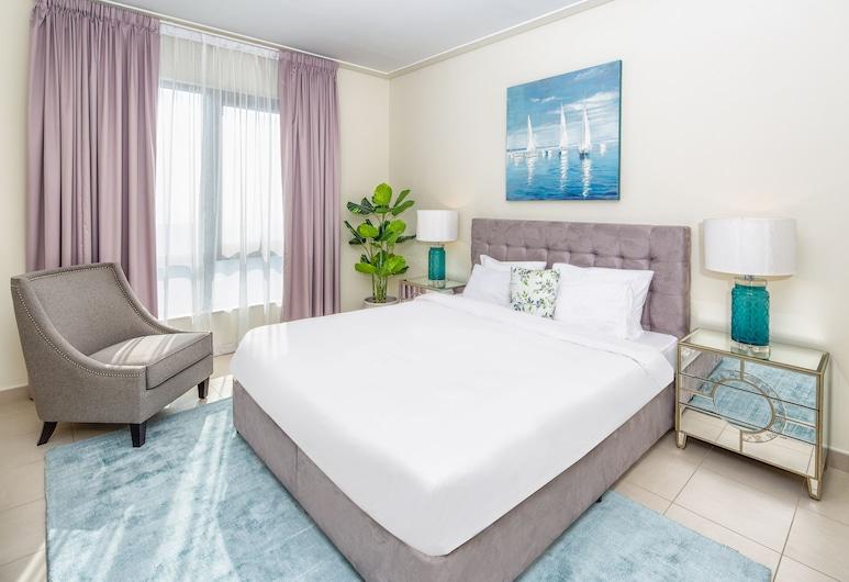Nasma Luxury Stays - South Ridge, Dubajus, Liukso klasės apartamentai, 2 miegamieji, vaizdas į kanalą, Kambarys