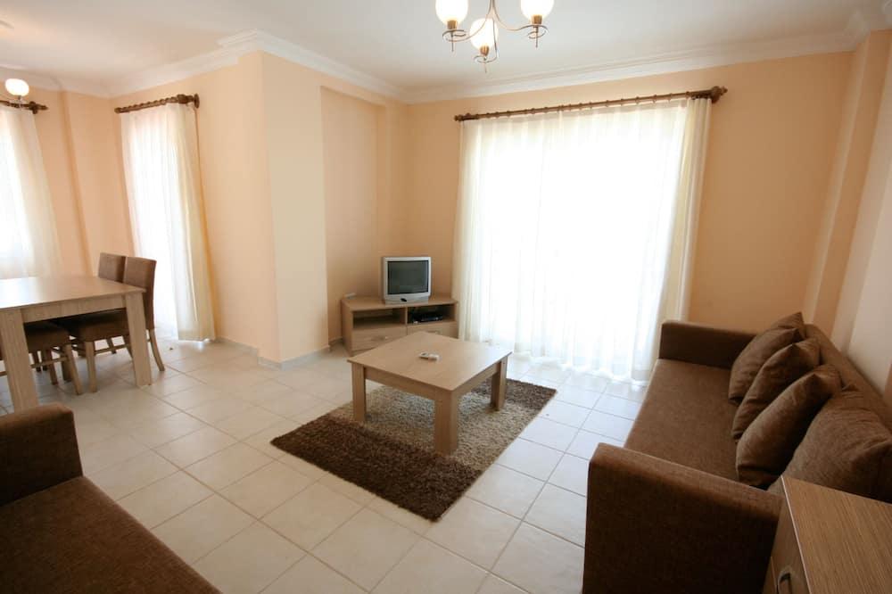 Vila, 3 spálne, výhľad na bazén - Obývačka