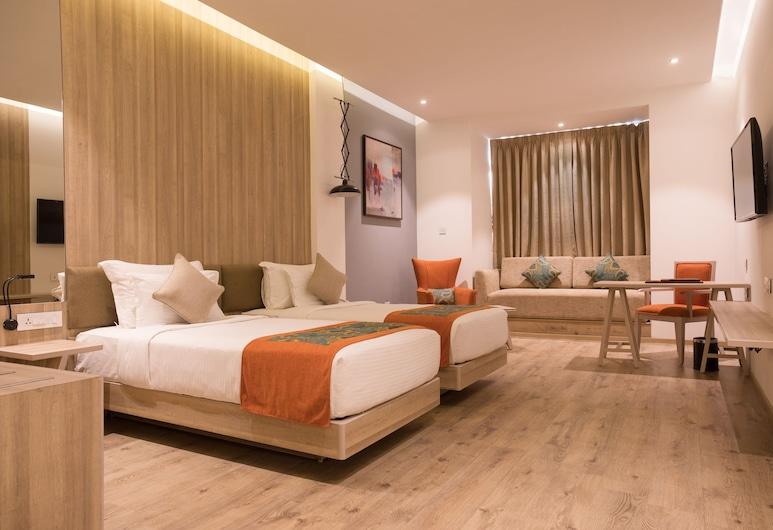 Centre Point Navi Mumbai, Νάβι Μουμπάι, Premium Δίκλινο Δωμάτιο (Twin), Δωμάτιο επισκεπτών