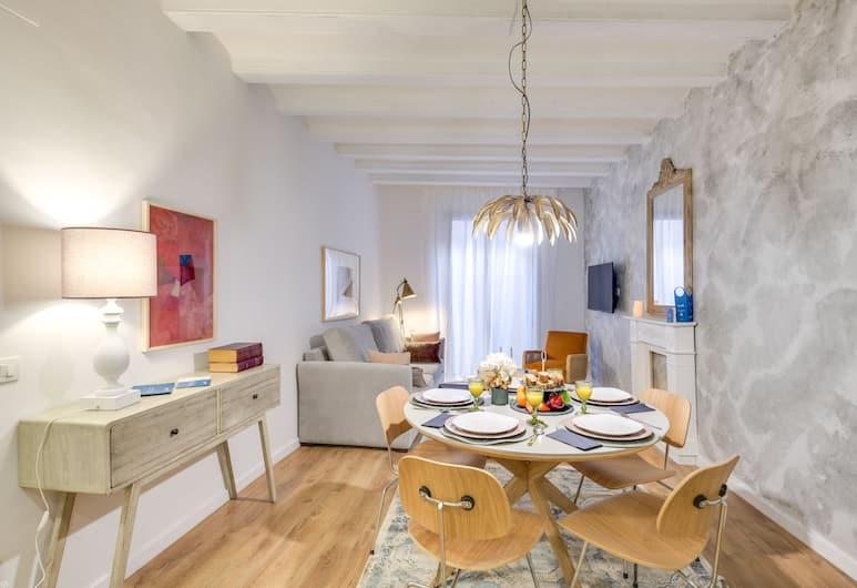 Sweet Inn Apartments Ramblas, ברצלונה, דירה דה-לוקס, 3 חדרי שינה (Carrer d'en Serra, 8 - IV), סלון