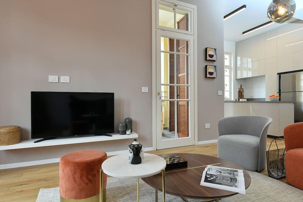 Design-lejlighed - 2 soveværelser - ikke-ryger - Opholdsområde