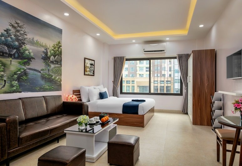 Aparthanoi, Hanoi, Luxe studio, Woonruimte