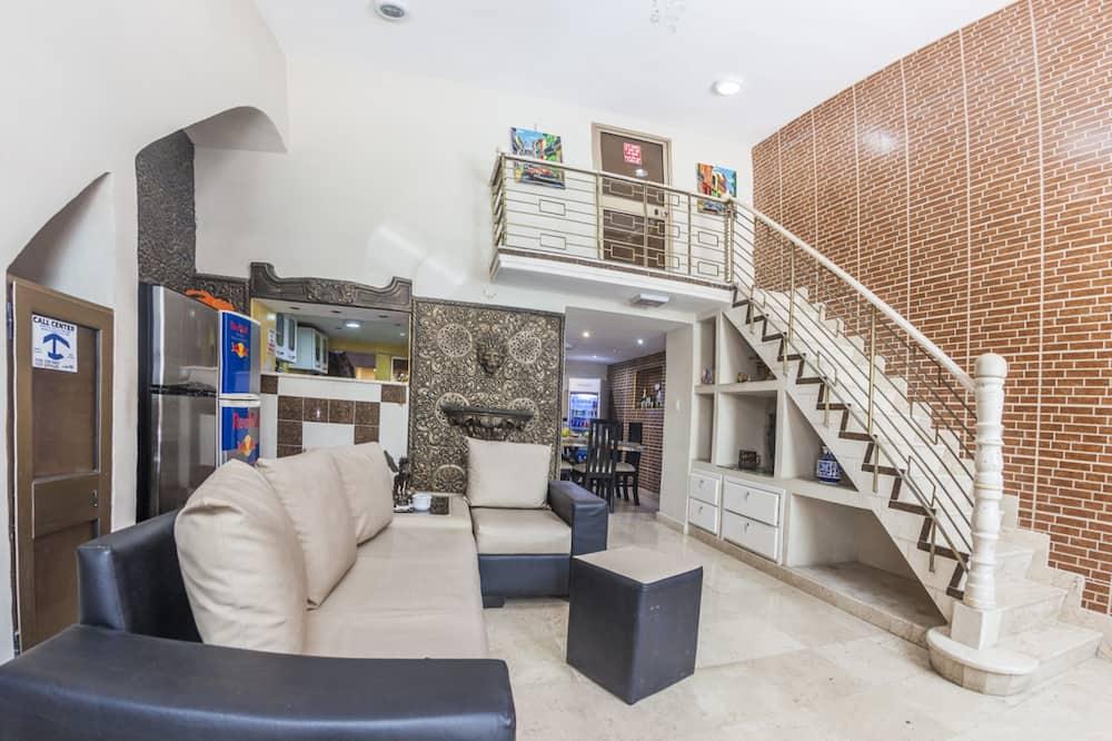 룸, 슈퍼싱글침대 1개 - 거실 공간