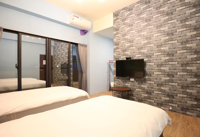 มัชรูมคาสเซิล เกสต์เฮาส์, ไถตง, ห้องคอมฟอร์ทดับเบิล, เตียงเดี่ยว 2 เตียง, ปลอดบุหรี่, ห้องพัก