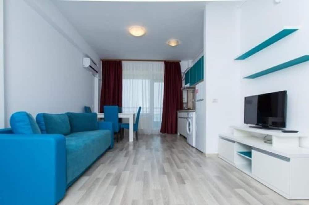 Апартаменты «Комфорт», для некурящих, вид на море - Гостиная