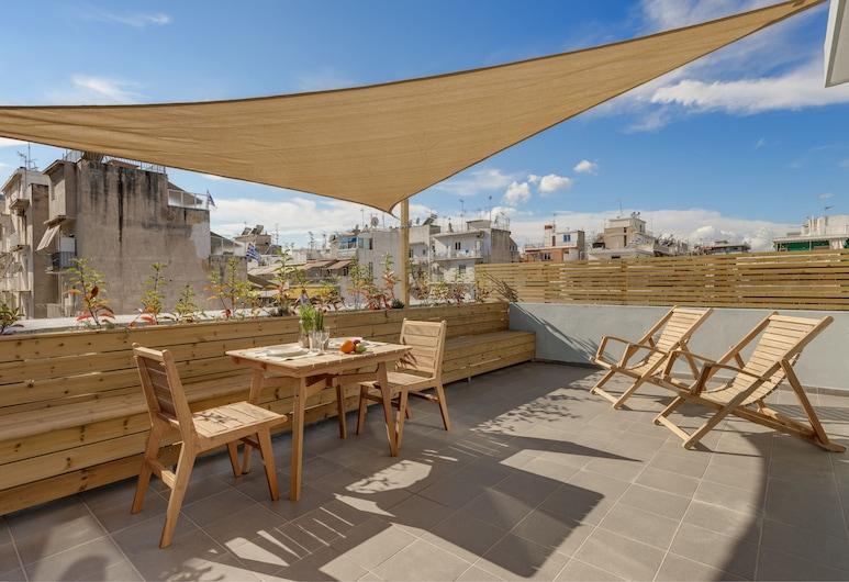 Maryflower Premium Apartments Piraeus, Piraeus, Executive Apartment, 1 Queen Bed, Non Smoking, Terrace/Patio