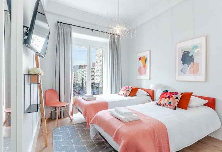 NLC Rooms & Suites, Lisboa, Tomannsrom – standard, 2 enkeltsenger, delt bad, utsikt mot byen (2), Gjesterom