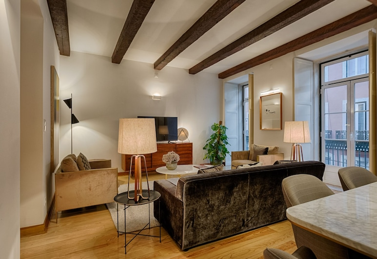 Master Historical Gem in Chiado, Lisbon, Apartment, 3 Bedrooms, Living Room