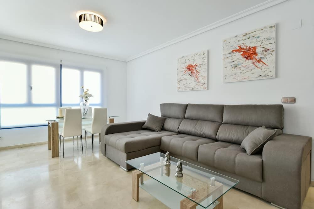 Apartment, 2Schlafzimmer, Terrasse, Stadtblick - Wohnzimmer