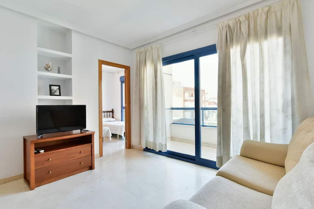 Departamento, 2 habitaciones, terraza, vista a la ciudad - Sala de estar